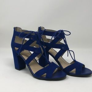 Sam Edelman Circus new blue suede lace up sandals